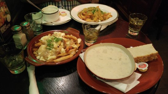 poutine seafood chowder curry on fries jameson s on the rocks