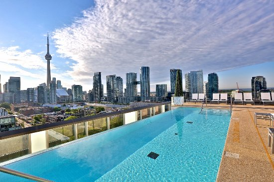 Rooftop pool picture of thompson toronto a thompson for Pool show toronto