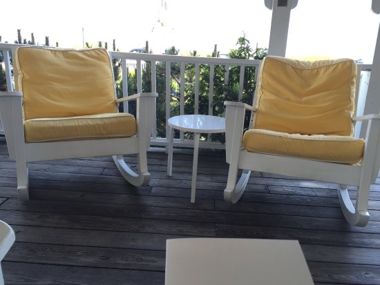 The Tides Beach Club: Front porch rockers