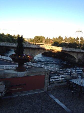 View of Spokane River from Clinkerdagger deck.