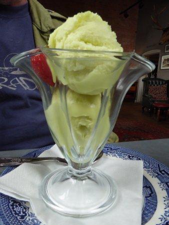 Malpas, UK: Excellent sorbet