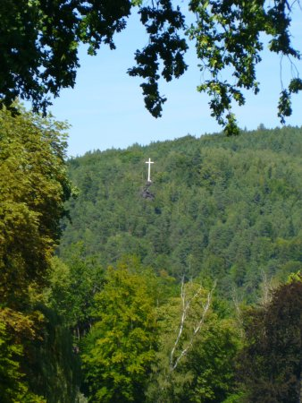 The White Cross seen from Greizer Park, Greiz