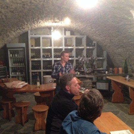 Mertesdorf, Allemagne : Wijnkelder met wijnproeverij