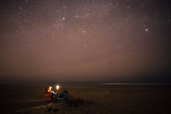 Star gazing in Salvo Beach, NC