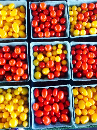 City Market: Cherry tomatoes, red and yellow!