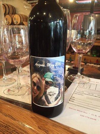 Our custom wine bottle