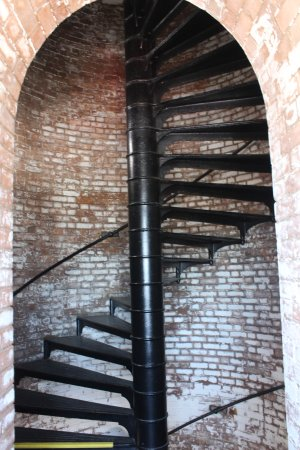 Tybee Island Lighthouse Museum: Steps leading to the light itself