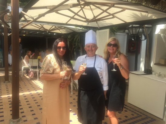 Marbella Club Hotel: Super seafood buffet.