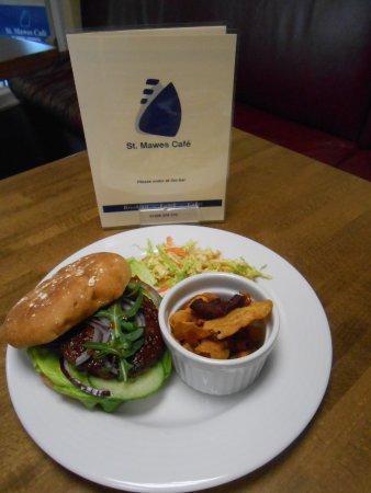 St Mawes, UK: Beef Burger