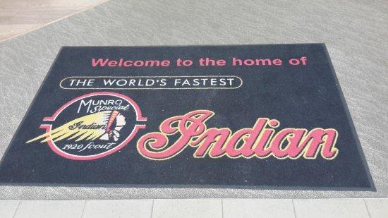 Invercargill, New Zealand: Welcome mat.