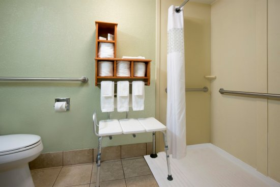 Hampton Inn Hilton Head: ADA Bathroom with roll in shower
