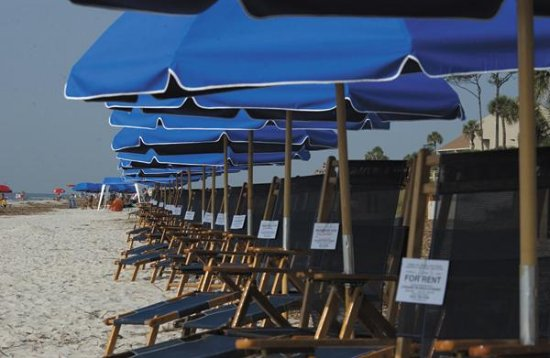 Hampton Inn Hilton Head: Beach Umbrellas