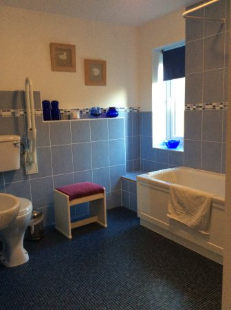 Pidley, UK: Ensuite bathroom for ground floor twin ( mobility friendly)