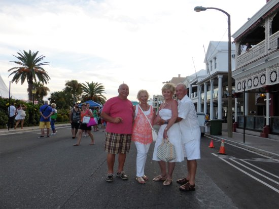 Hamilton, Bermuda: On Front Street With Friends...We Are In White