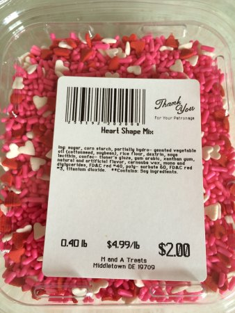 Middletown, DE: Hearts mix sprinkles from M & A treats