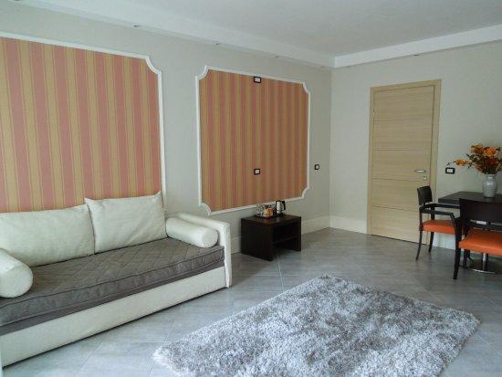 Hotel Flora - Stresa : Living room apartment A1 - Villa Maria/Hotel Flora, Stresa Oct 7 2015