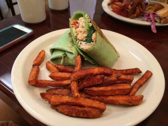 Ambler, PA: Briar Turkey Wrap and Sweet Potato Fries