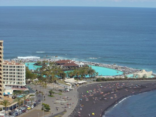 Lagoon and beach opposite the hotel picture of h10 tenerife playa puerto de la cruz tripadvisor - Playa puerto de la cruz tenerife ...