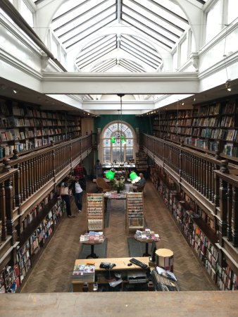 Daunt Books: View from the upper level.