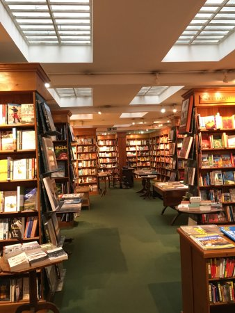 Daunt Books: The basement level filled with books based on countries.