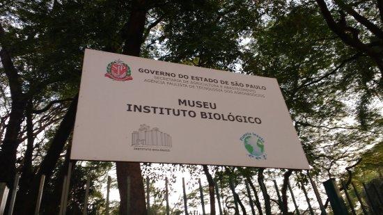 Museu do Instituto Biologico: Entrada