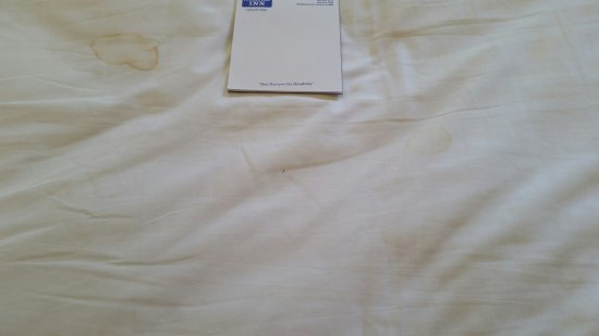 Travelodge by Wyndham Eugene Downtown/University of Oregon : Unknown stains on sheets