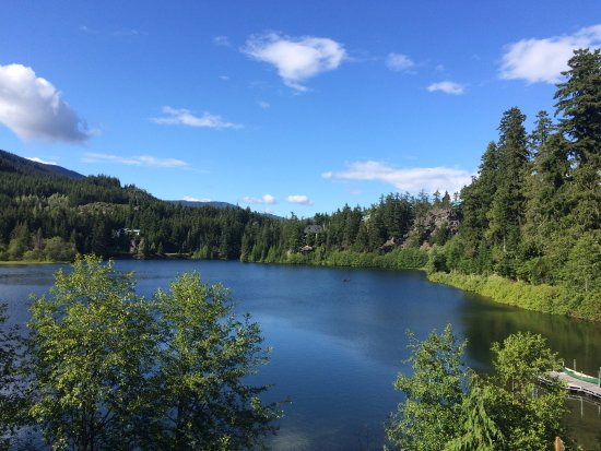 Nita Lake Lodge: From our room on a sunny day