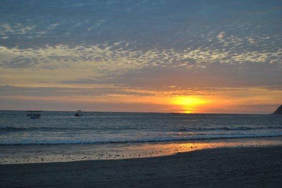 Hotel Villas Playa Samara: Coucher de soleil