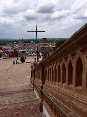 Vista de las escalinatas hacia la ciudad, El Calvario.Lagos de Moreno, Jalisco. Mexico