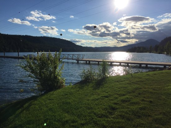 Sandpoint, ID: View from the outside deck, late evening.
