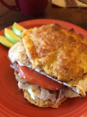 Down To Earth Cafe : The Molly breakfast sandwich special