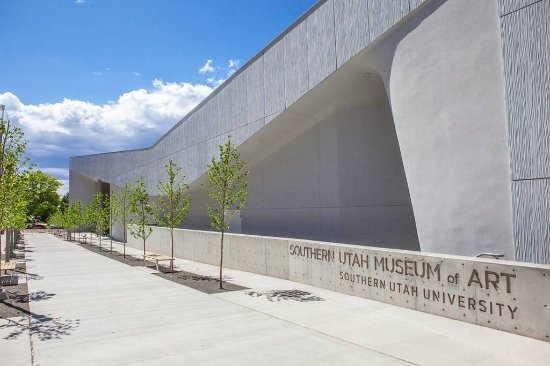 Cedar City, UT: Southern Utah Museum of Art as seen from the Beverly Avenue
