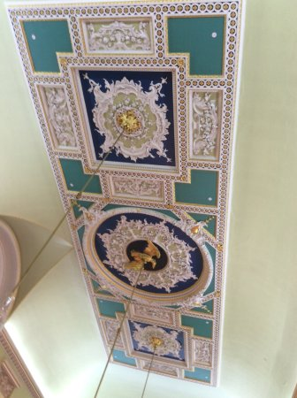 Mansion House: Fine 18th century plaster work on a ceiling