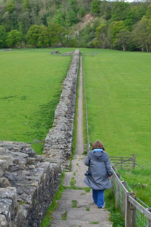 B And B Along Hadrian's Wall ... Farm Bed and Breakfast: The public footpath along Hadrian's Wall