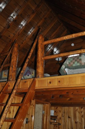 Yellowstone Inn: ladder up to the loft beds