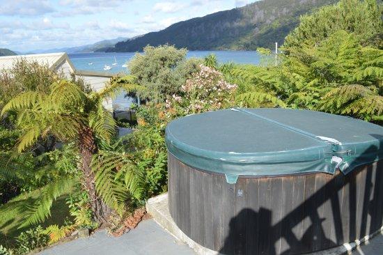 Anakiwa, Nueva Zelanda: Out door Hot tub