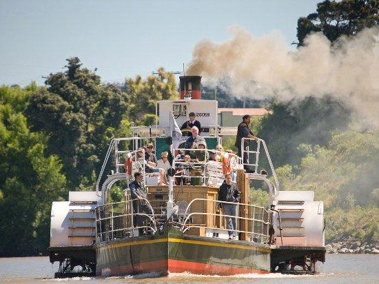 Paddlesteamer Waimarie On The Whanganui River