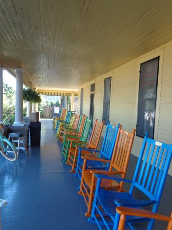Front porch of Hotel Lenhart