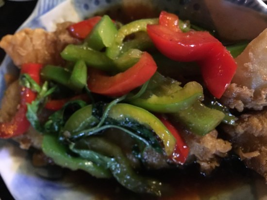 Nuntana Thai at The Royal George: fried fish with sweet sour sauce