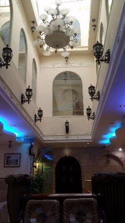 Inside main foyer of Hashimi Hotel