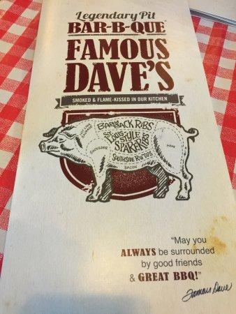 Famous Dave's: Menu