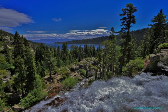 Vikingsholm: Emerald Bay in the distance,