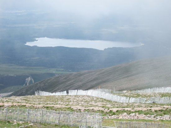 Aviemore, UK: View north of Loch Morlich from the top as the cloud lifted
