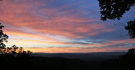 Pulaski, VA: Sunset from Draper Mountain Overlook