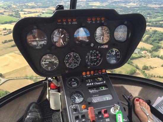 Charnay-les-Macon, Frankrig: En vol le cockpit