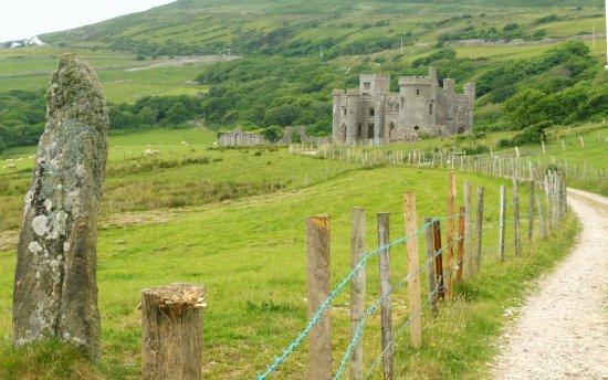 Clifden Castle: un des menhirs