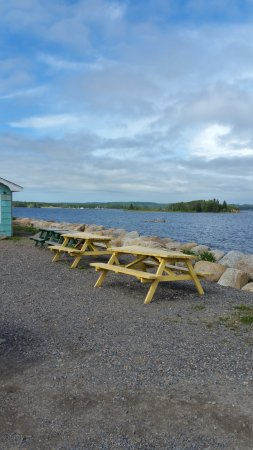 Western Shore, Canada : View from outside the restaurant