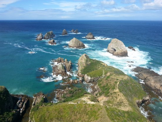 Nugget Point: View from lookout platform