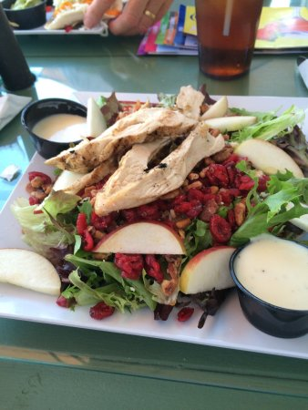 Village Casino : We went there for lunch. I had the apple chicken salad which was wonderful, my husband had the s