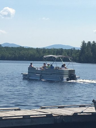 Wilsons on Moosehead Lake: On the Pontoon Boat